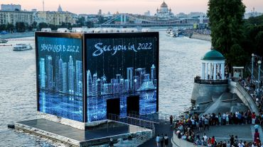 Un pavillon qatari à Moscou.