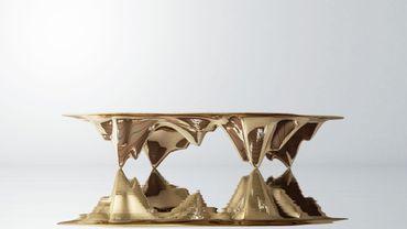 "Table ""Mad Martian"" en aluminium,, de  Ma Yansong pour Gallery All"