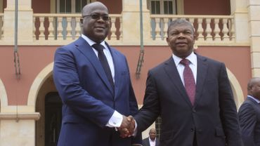 Devant son homologue angolais Joao Lourenço, le chef de l'Etat congolais a balayé mardi la controverse concernant son élection