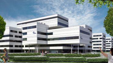 Le futur hôpital de Glain.