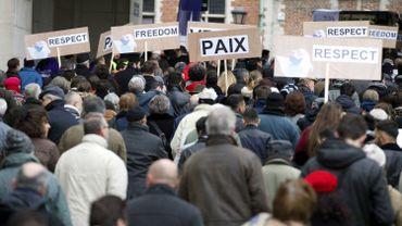 Photo de la marche qui avait suivi les actes terroristes de 2015 à Bruxelles.