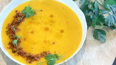 Dans votre assiette ce soir: potage de butternut, lard et sirop d'érable