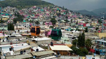 Vue d'Ecatepec, ville de la banlieue de Mexico, le 25 août 2016