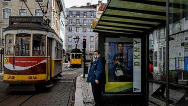 Les célèbres trams dans les rues de Lisbonne au temps du coronavirus, le 19 mars