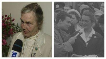 La baronne Lily de Gerlache en 1997 et en 1959
