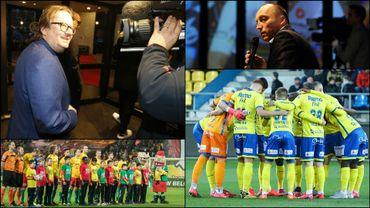 Marc Coucke, Wouter Vandenhoute, et les joueurs de Waasland-Beveren et Ostende