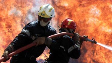 Les pompiers des casernes d'Arlon, Aubange, Etalle, Virton et Neufchâteau sont intervenus sur place (illustration).