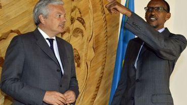 Didier Reyners en compagnie du président rwandais Paul Kagame