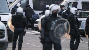 Photo d'illustration, manifestation contre la justice de classe à Bruxelles, 24 janvier à Bruxelles