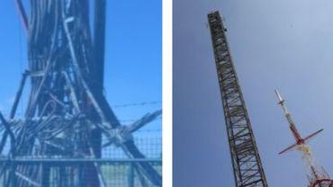 Incendie d'une antenne de la RTBF: le pylône de remplacement installé à Wavre est opérationnel
