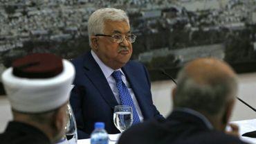 Le président palestinien Mahmoud Abbas à Ramallah en Cisjordanie, le 14 mai 2018