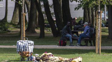 Plusieurs migrants ont été interpellés vendredi matin lors d'une opération de police menée au parc Maximilien.