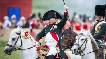 Napoléon, incarné par Frank Samson, lors de la reconstitution