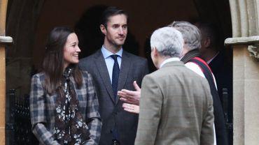 Pippa Middleton et James Matthews le 25 décembre 2016 à l'Eglise St Mark, à Englefield