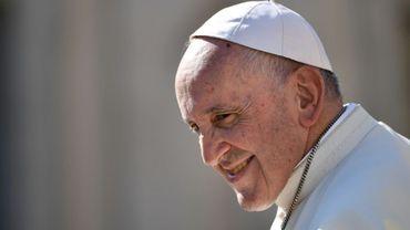 """Le pape François lors de l'audience générale du 10 octobre au Vatican où il a comparé l'avortement au """"recours à un tueur à gages pour résoudre un problème"""""""