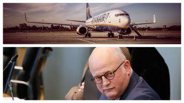 Avion Ryanair à Zaventem (juin 2020) et Jean-Luc Crucke au parlement de Wallonie (décembre 2020)
