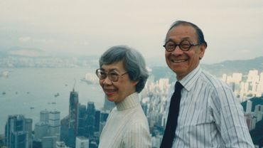 Eileen et I.M. Pei, à Hong Kong, en 1988.