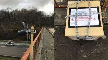 Un des postes de comptage que vous pouvez apercevoir sur les ponts des autoroutes wallonnes.