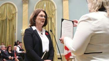 La ministre de la Santé canadienne Jane Philpott, lors d'une cérémonie à Ottawa le 4 novembre 2015