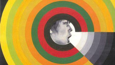 """Évelyne Axell, """"Le Mur du son"""", 1966, huile sur toile, 200 x 200 cm"""
