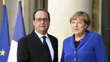 François Hollande et Angela Merkel lors d'une réunion sur le conflit ukrainien le deux octobre dernier
