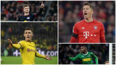 Werner, Lewandowski, Hazard et Thuram, quatre acteurs d'une course au titre entourée de beaucoup de questions en Bundesliga