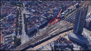 SNCB: un portique de signalisation de la Gare du Midi, d'environ 20 tonnes, ôté ce week-end