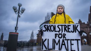 """Greta Thunberg à Davos: """"Je voudrais qu'ils oublient leur intérêt personnel, pour s'intéresser au climat"""""""