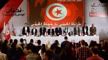 L'ISIE (Instance supérieure indépendante pour les élections) en conférence de presse pour délivrer les résultats des élections en Tunisie