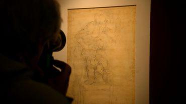 """Le dessin de Michel-Ange, """"Le Sacrifice d'Isaac"""" exposé à Rome aux Musées du Capitole, le 21 avril 2017"""