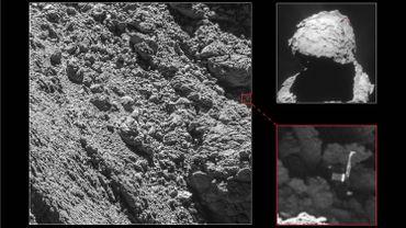 Le robot était caché sous un rocher, sans lumière et privé d'énergie