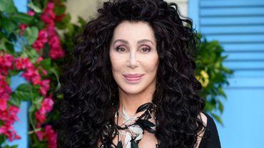 """Cher lors de la première de """"Mamma Mia! Here We Go Again"""" à Londres le 16 juillet 2018."""