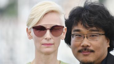 Tilda Swinton et le réalisateur Bong Joon HO