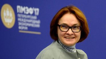 La présidente de la banque centrale russe, Elvira Nabiullina, à Saint Pétersbourg lors d'un forum économique international, le 1er juin 2017