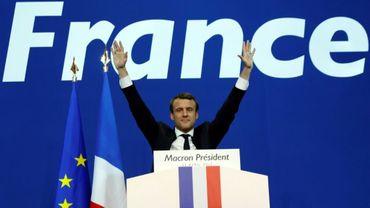 Emmanuel Macron, le 23 avril 2017 à Paris