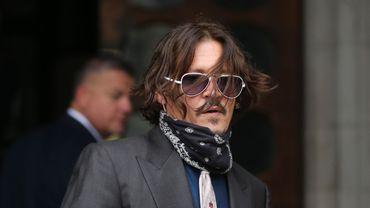 Johnny Depp à son arrivée au tribunal