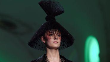 Les chapeaux inspirés du Japon de Jean Paul Gaultier. Paris, le 23 janvier 2019.
