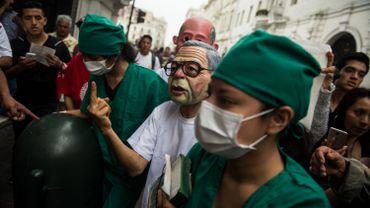 Manifestation à Lima contre la grâce d'Alberto Fujimori