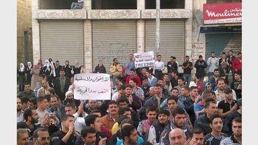 Des manifestants le 19 avril 2011 à Banias