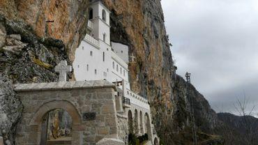 Le monastère d'Ostrog, dans le centre du Monténégro, le 12 février 2020