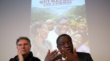 Le réalisateur Thierry Michel et le Dr Denis Mukwege