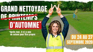 Du 24 au 27 septembre, c'est le Grand Nettoyage... d'Automne en Wallonie