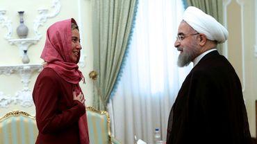 Federica Mogherini, la cheffe de la diplomatie européenne et Hassan Rohani, président iranien à Téhéran le 28 juillet dernier