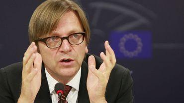 Guy Verhofstadt veut un sursaut vers davantage d'intégration européenne