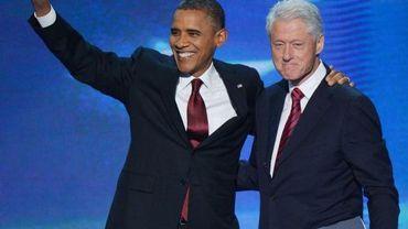 Barack Obama et Bill Clinton à la convention démocrate