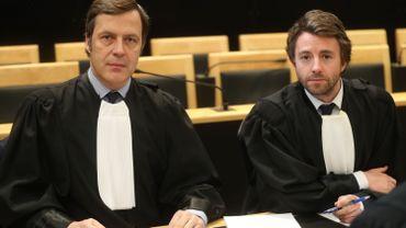 Maître Cédric Vergauwen et maître Wallerand Godbille, les avocats de la défense