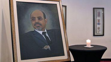Un portrait de Meles Zenawi lors de l'annonce de son décès