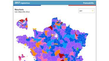 Législatives en France: voici la carte des résultats du second tour