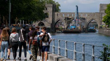 Une vue du pont des Trous à Tournai en 2019
