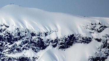 Vue du massif du Kebnekaise le 17 mars 2011.